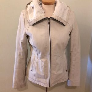 Leather Danier white jacket , size S.